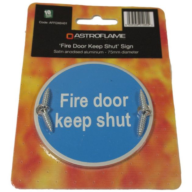 Fire Door Signs Keep Shut or Keep Locked | Shop At FingerKeeper